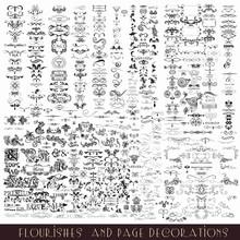 Set Of Vector Calligraphic Ele...
