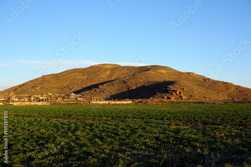 Hill landscape at morning