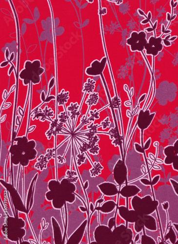Fotografie, Obraz  Fond floral abstrait.