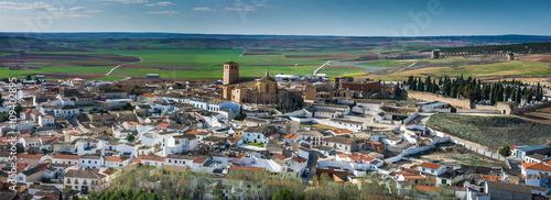 Poster Gris Belmonte Castle, La Mancha, Spain