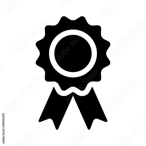 Winning award, prize, medal or badge flat icon for apps and websites Canvas Print