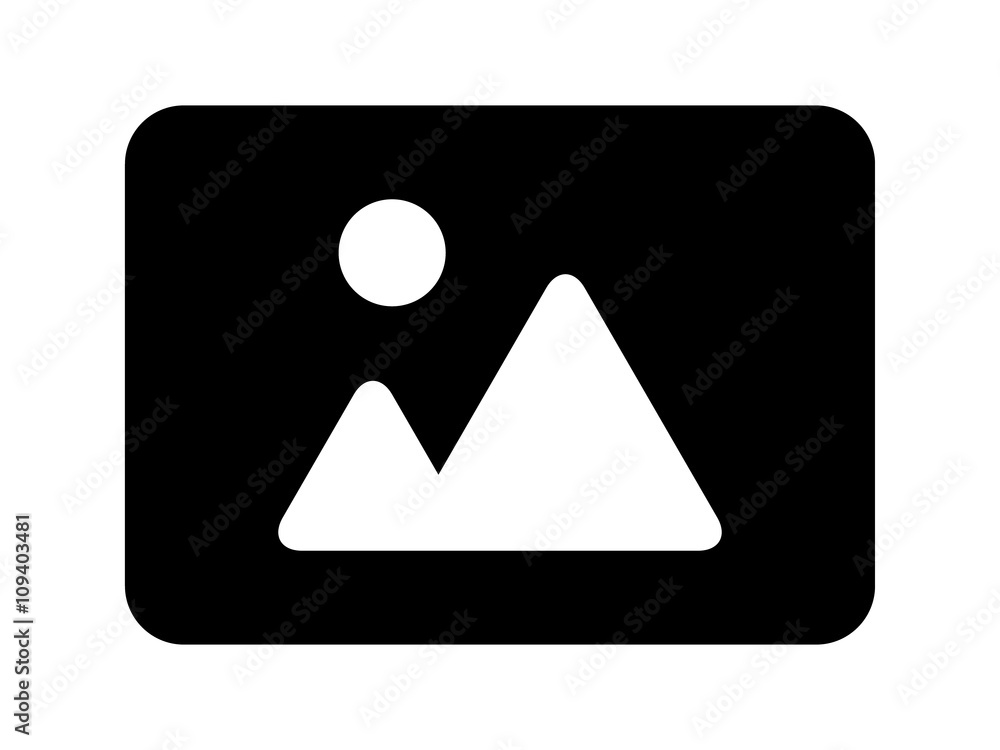 Fototapety, obrazy: Landscape photo image or picture placeholder flat icon