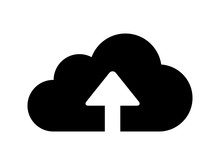 Upload To Cloud Flat Icon For ...