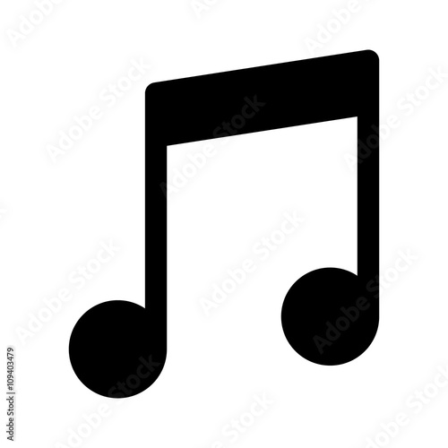 Music note or eight note flat icon for apps and websites Fototapeta