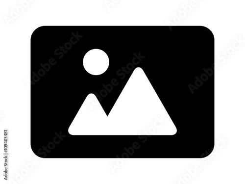 Fotografía  Landscape photo image or picture placeholder flat icon