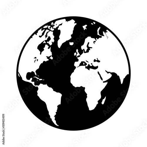 World map globe or planet earth world map flat icon for apps and world map globe or planet earth world map flat icon for apps and websites gumiabroncs Choice Image