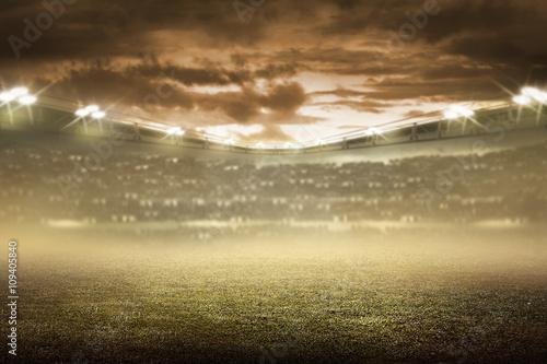 Plakat Tło stadionu piłkarskiego