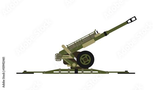 Air defense gun vector illustration. Canvas Print