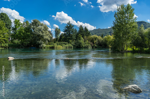 River Adda at Brivio Lombardy Italy Wallpaper Mural