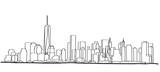 Fototapeta Nowy Jork - Free hand sketch of New York City skyline. Vector illustration eps 10.