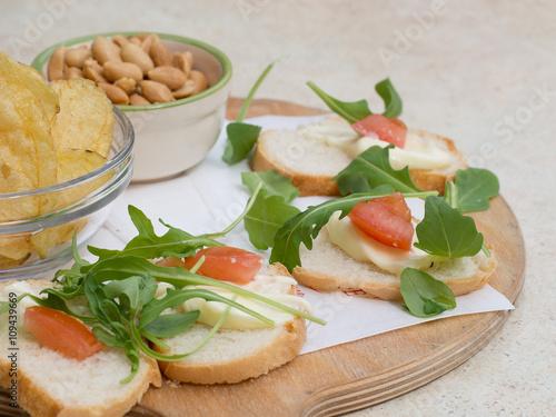 Canvas-taulu Italian aperitif cafe snacks.