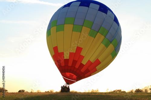 Fotografie, Obraz  Hot Air Balloon landing