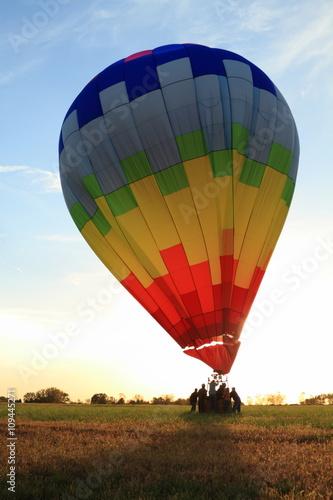 In de dag Ballon Hot Air Balloon landing