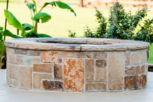 Outdoor Flagstone Firepit With...