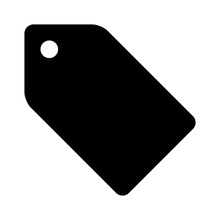 Hangtag / Hang Tag Label Flat Icon For Apps And Websites