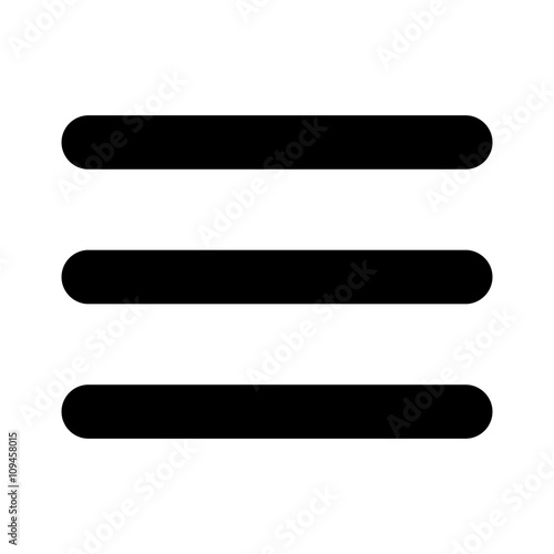 Obraz Hamburger menu bar flat icon for apps and websites - fototapety do salonu