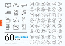 60 Appliances Icons