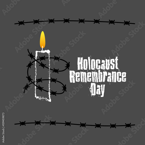 Fotografie, Obraz  Holocaust Remembrance Day. January 27th. Vector illustration