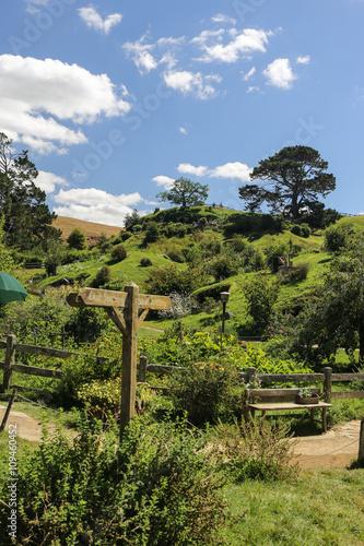 Hobbiton Film Set in Neuseeland Poster