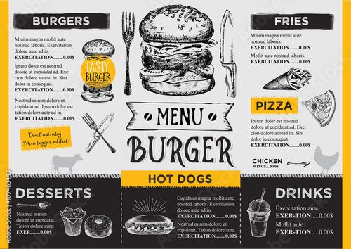 Fotografie, Obraz  Restaurant cafe menu, template design.
