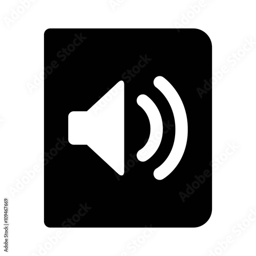 Fotografia, Obraz  Audio book, unabridged audiobook flat icon for apps and websites