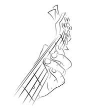 Playing Bass Illustration.