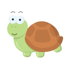 Turtle cartoon icon. Illustration for web and mobile design.