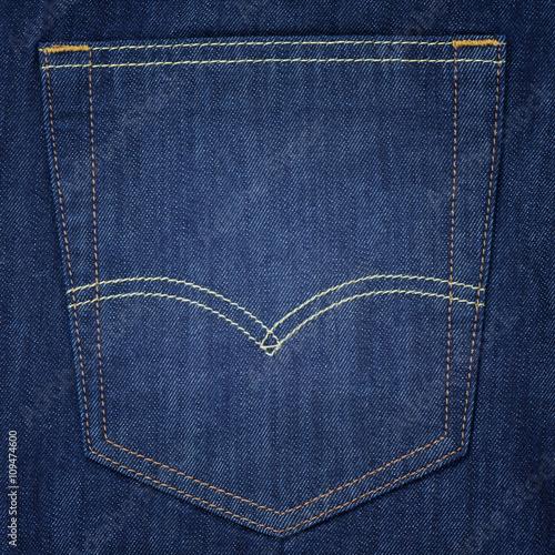 Fotografía  Primer plano de bolsillo de la mezclilla fondo