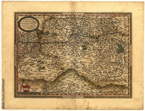 Photo  vintage map