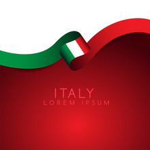 Italy Flag Ribbon : Vector Illustration