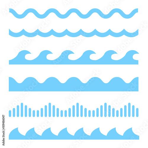 Plakaty marynistyczne niebieskie-fale-marynistycznego-stylu