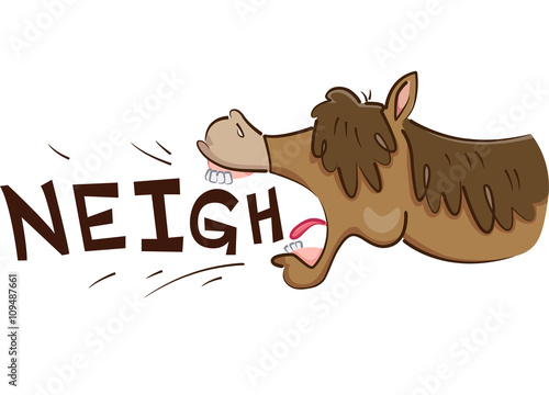 Canvastavla Horse Neigh