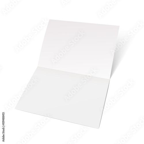Fotografiet A sheet of paper folded in half.