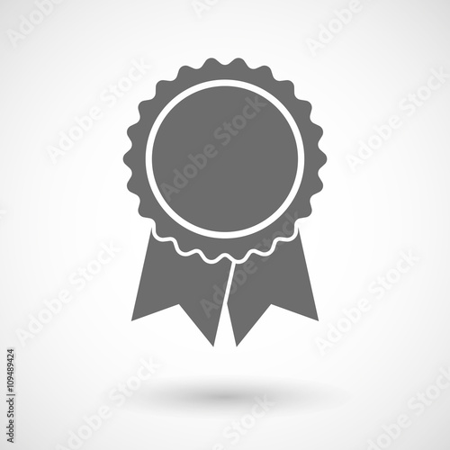 Fotografía  Isolated vector illustration of  a ribbon award
