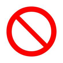 Prohibition, Forbidden Sign. V...