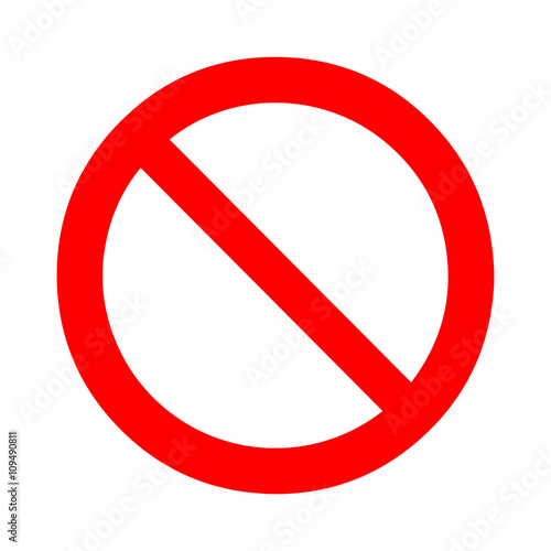 Photo Prohibition, forbidden sign. Vector illustration