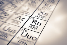 Focus On Radon Chemical Element From The Mendeleev Periodic Table