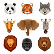 Cartoon Animals Portraits Set