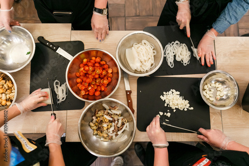 Fotobehang Koken culinary workshop