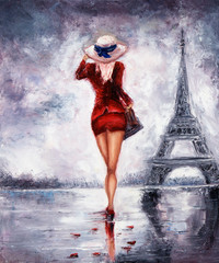 Fototapeta Paryż Woman in Paris