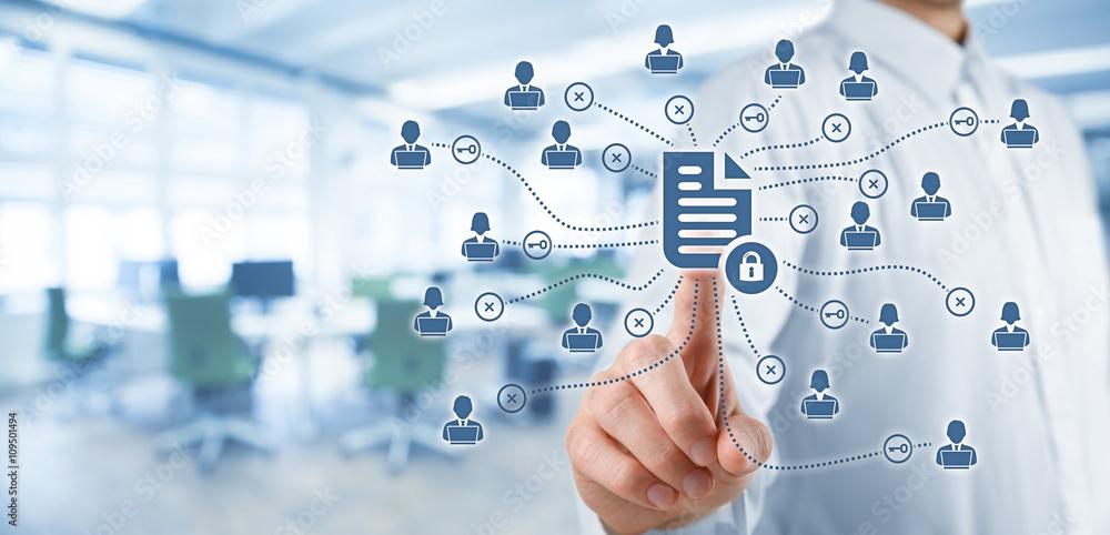 Fototapeta Data management and privacy