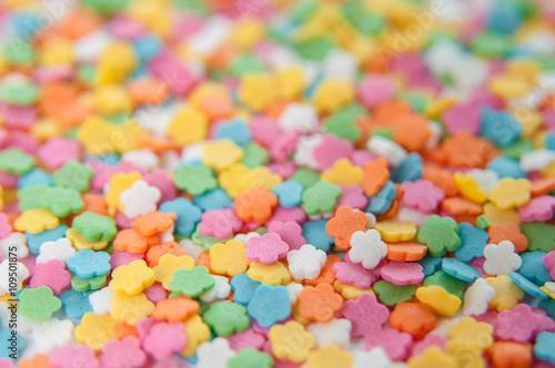 Keuken foto achterwand Snoepjes Sugar sprinkle dots, decoration for cake and bakery