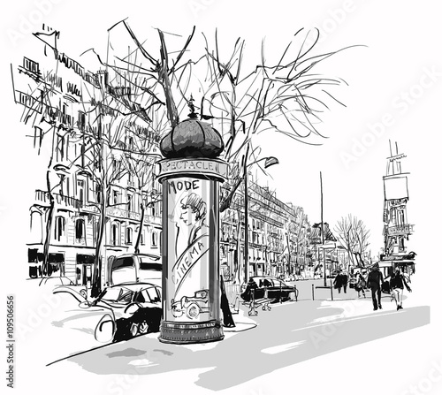 Boulevard in Paris - 109506656