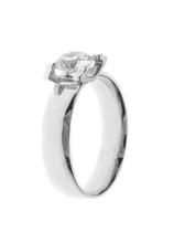 Wedding Or Engagement Ring Made Of White Gold Isolated On White