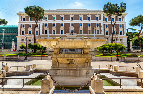 Fountain in front of the Palazzo del Viminale - Rome Canvas Print
