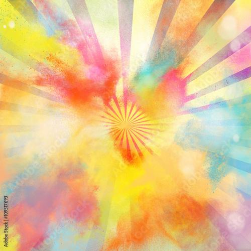 Papiers peints Pop Art Pop-art colourful burst