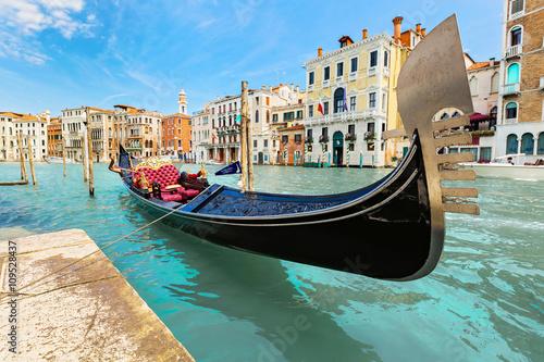Fotobehang Gondolas Venice, Italy.