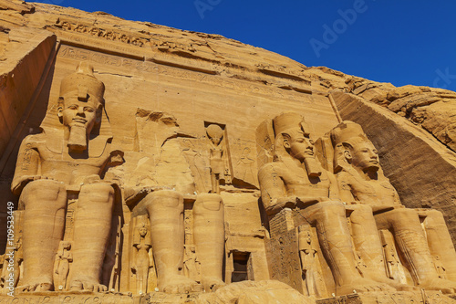 Photo  four figures Abu Simbel