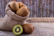 fres kiwi in a sack