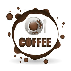 Naklejka Coffee design. breakfast conceptl. white background
